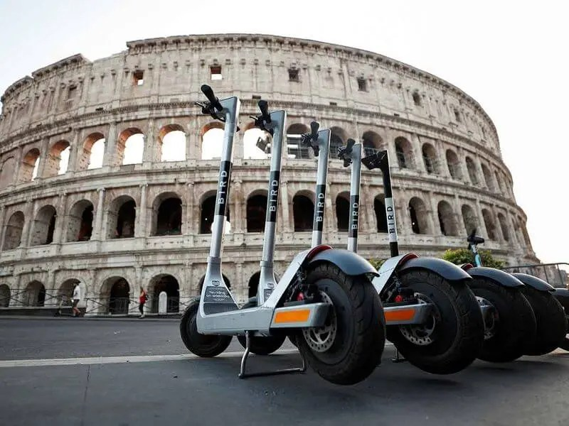 bird electric scooter in rome by Lifetime Traveller
