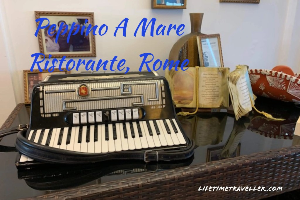 Peppino A Mare Ristorante, Rome, A restaurant review