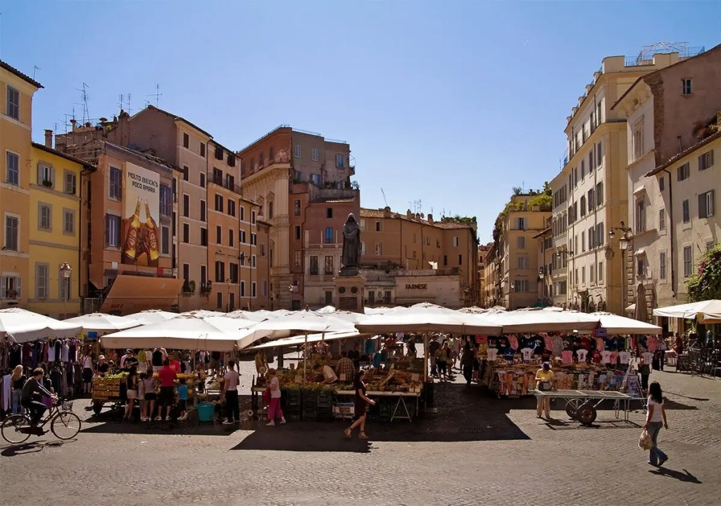piazza di campo de fiori, things to visit in Rome