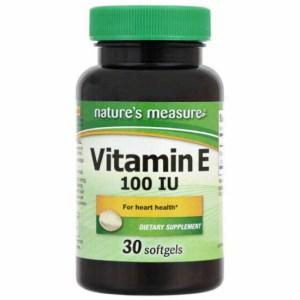Nature's Measure Vitamin E 100 Iu 30 Tablets