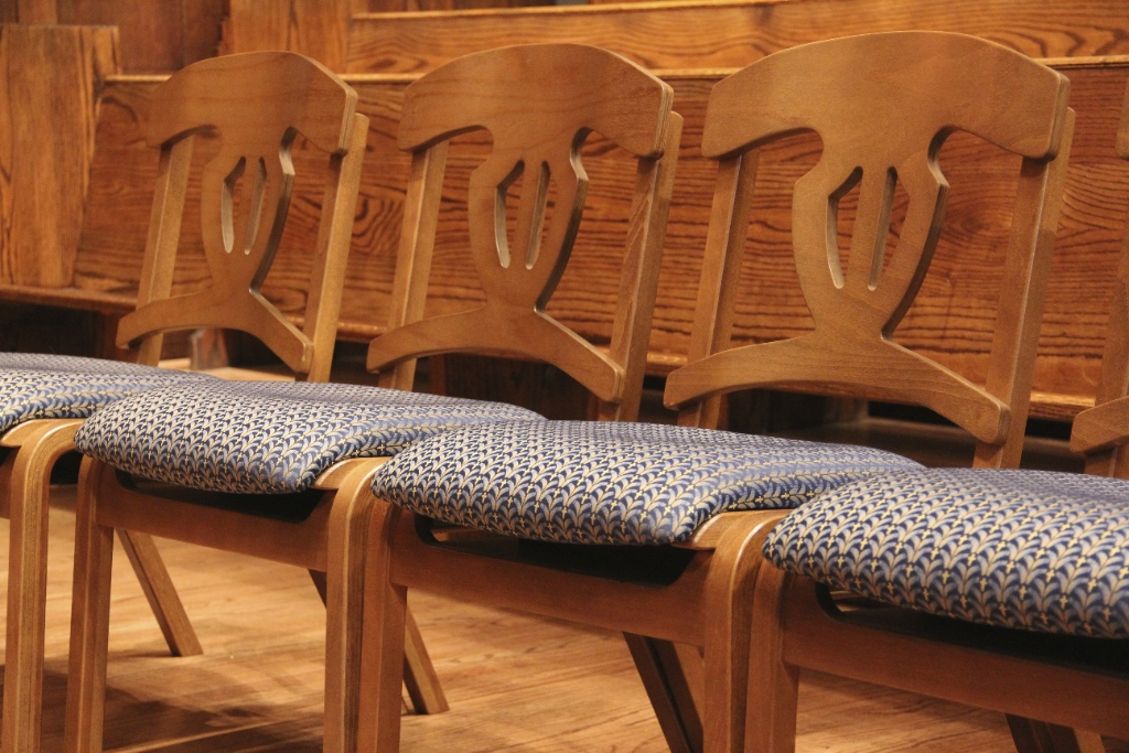 wooden church choir chairs adirondack lounge chair wood frame