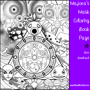 majora's mask coloring book page life well hustled