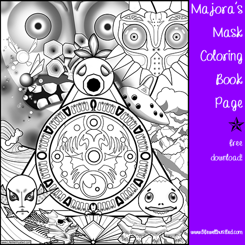 Legend of Zelda: Majora's Mask Coloring Book Page