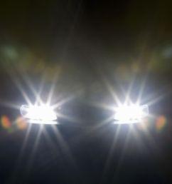 headlights glaring against dark background [ 2121 x 1414 Pixel ]