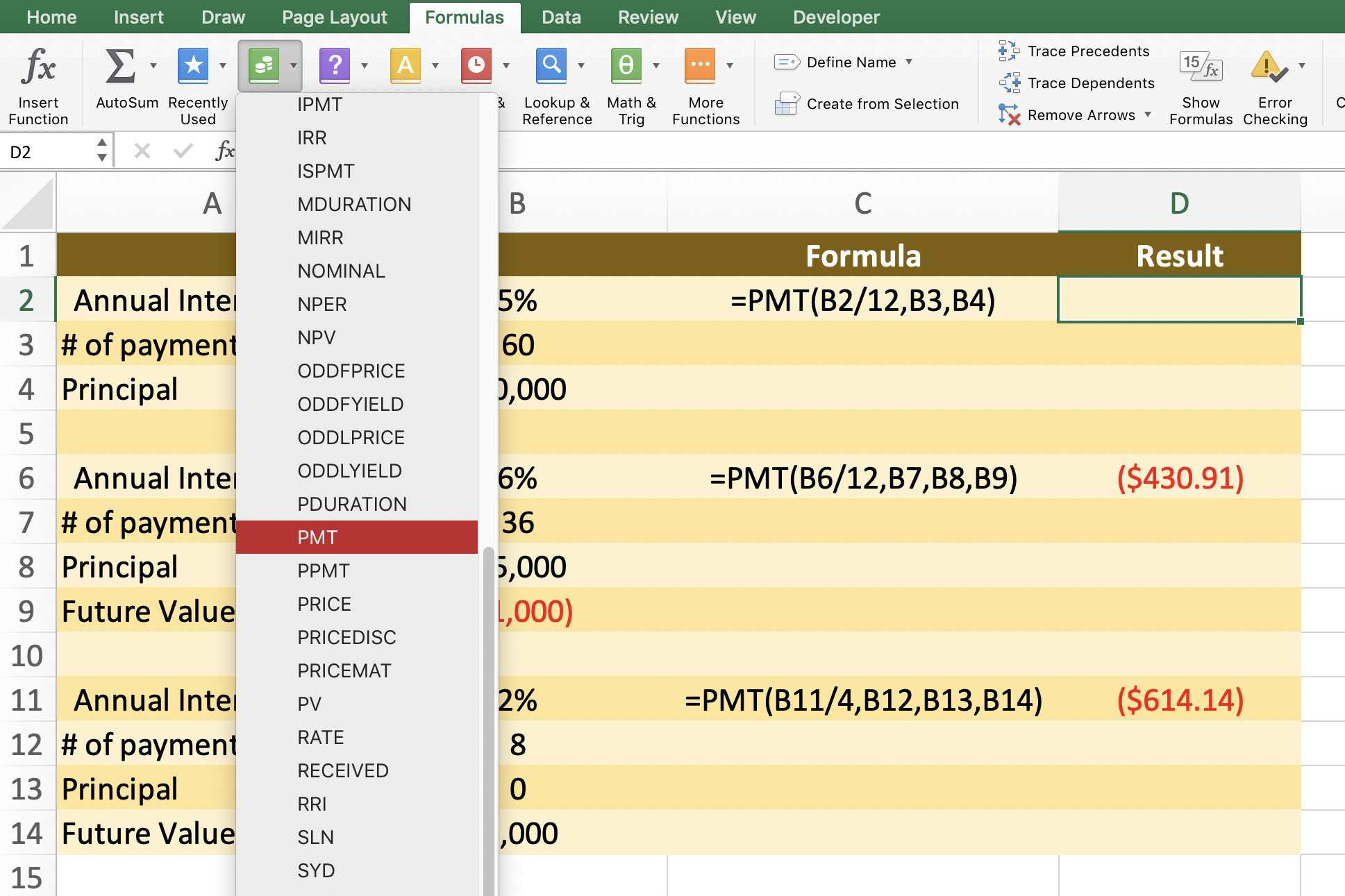Excel Pmt Function Calculate Loans Or Saving Plans