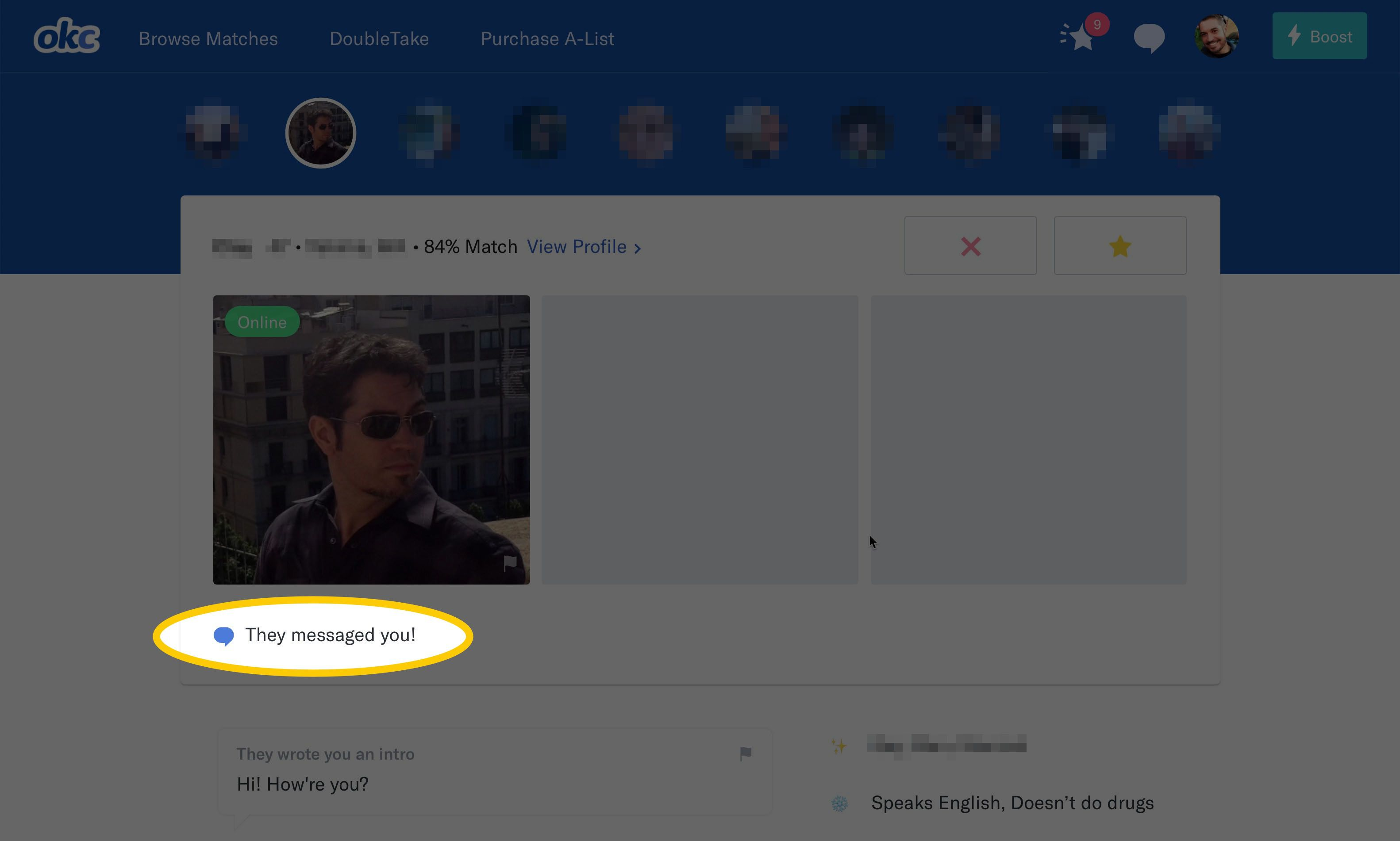 how to use okcupid