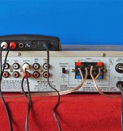 velodyne wireless speaker kit receiver connected to amplifier [ 1500 x 651 Pixel ]