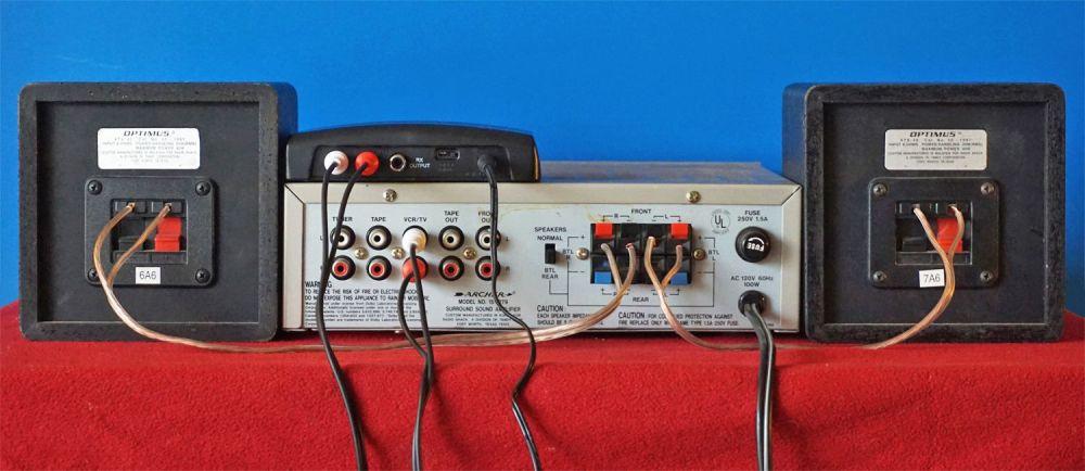 medium resolution of velodyne wireless speaker kit receiver connected to amplifier