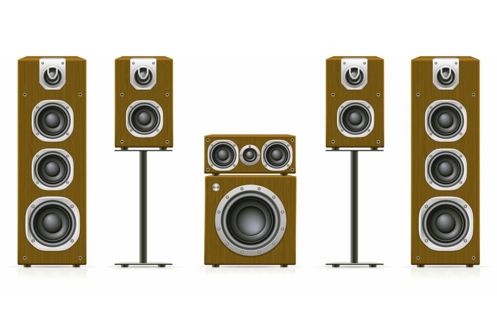 medium resolution of home theater speaker system example