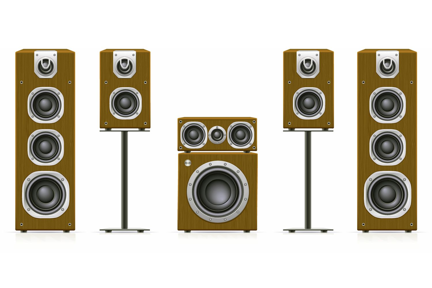 hight resolution of home theater speaker system example