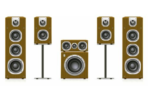 small resolution of home theater speaker system example