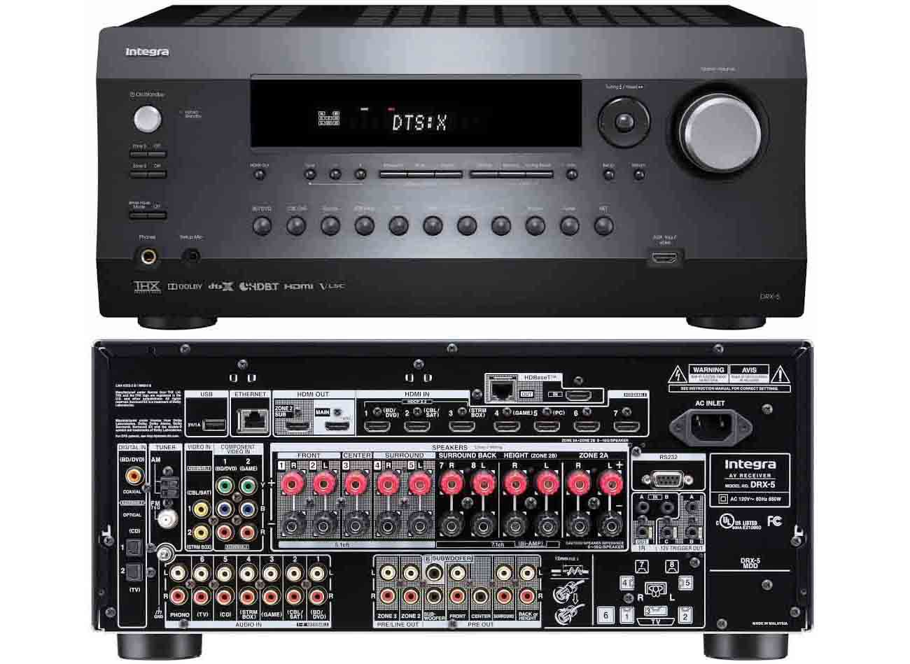 hight resolution of integra drx 5 home theater receiver with custom control