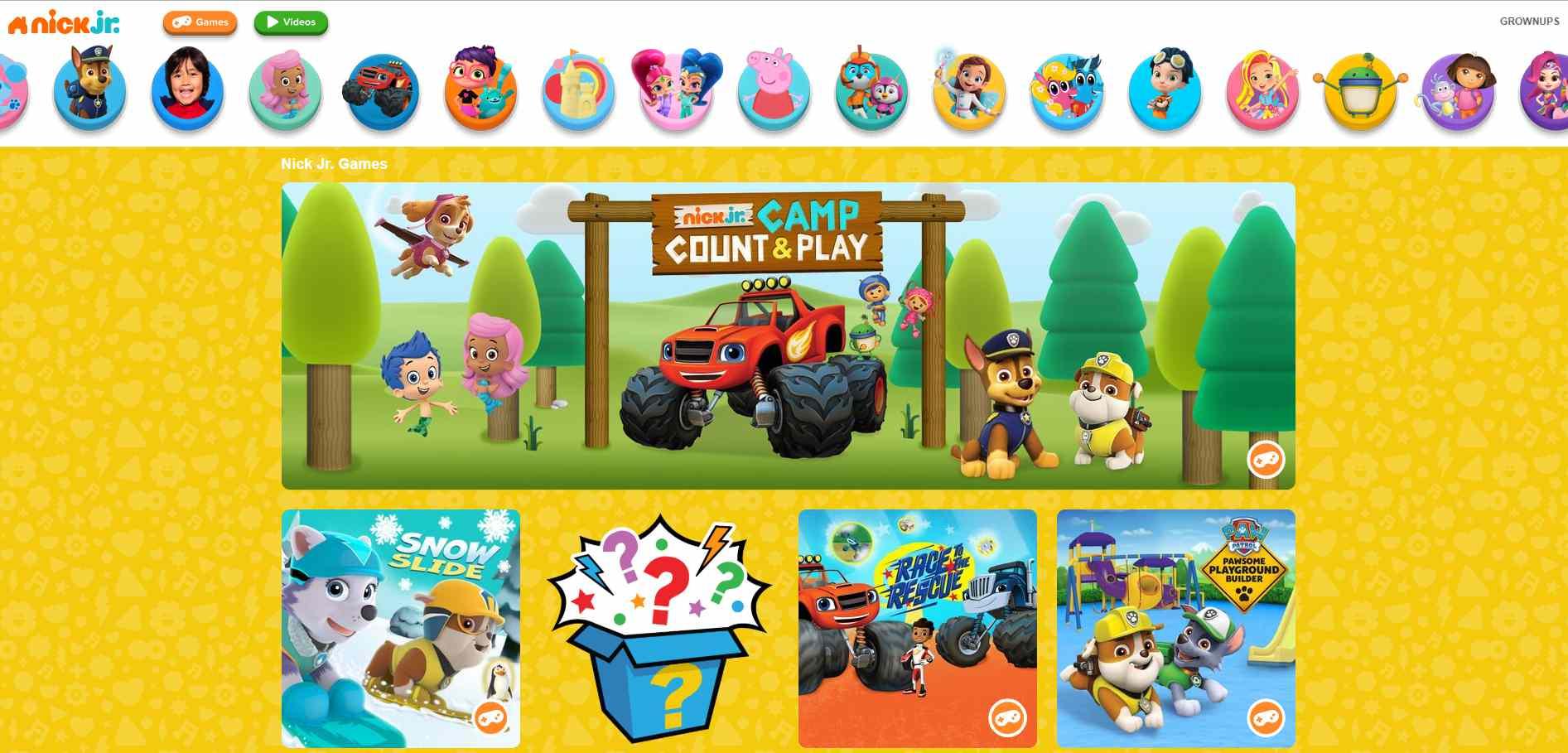 Nick Jr Online Games For Preschoolers