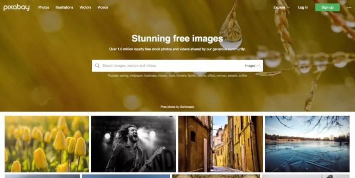 لقطة شاشة من Pixabay.com.