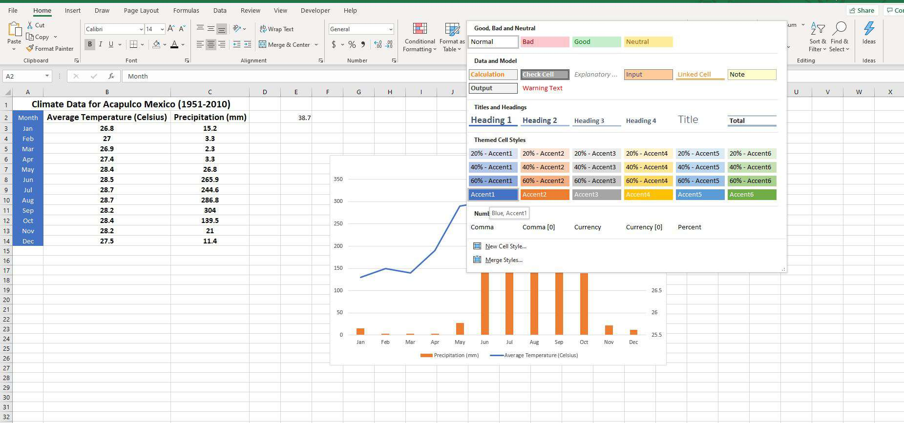 How To Format Excel Spreadsheets With Cell Styles