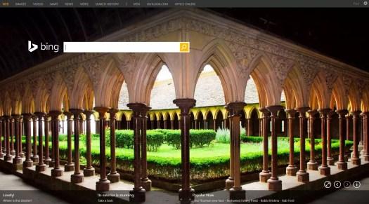 Bing Search screen