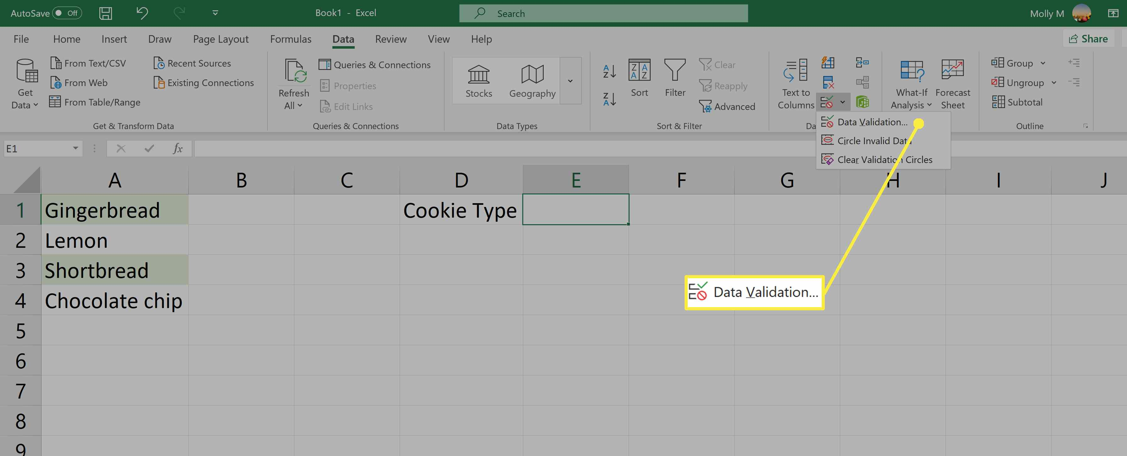Create A Drop Down List In Excel From Another Worksheet