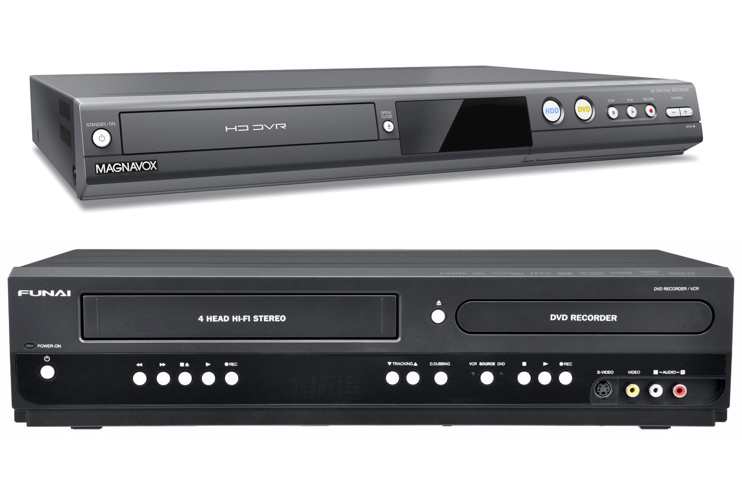 hight resolution of recording from a cable satellite dvr to a dvd recorder