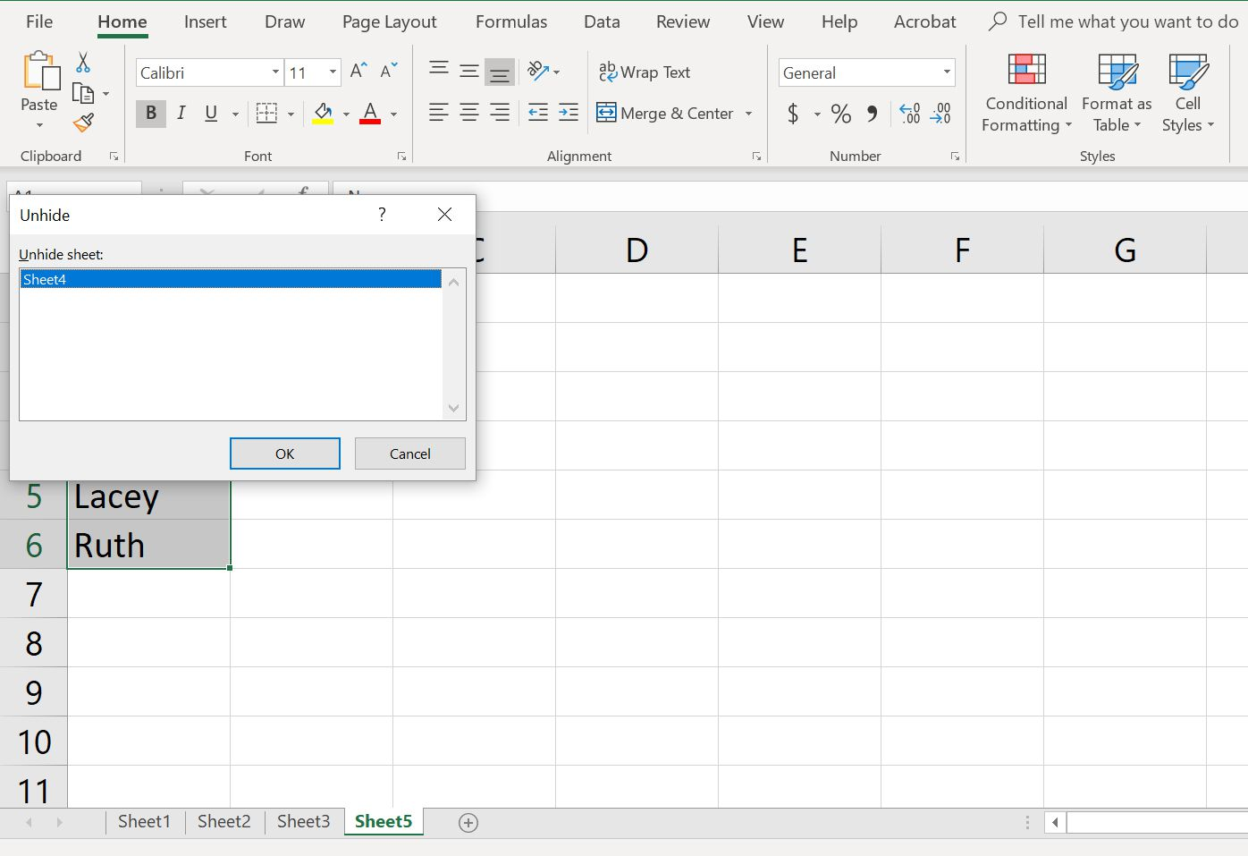 How To Hide And Unhide A Worksheet In Excel