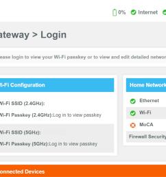 xfinity home gateway login page screenshot [ 1730 x 854 Pixel ]