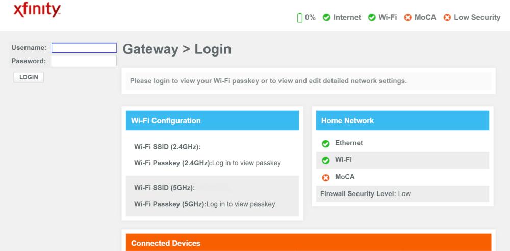 medium resolution of xfinity home gateway login page screenshot