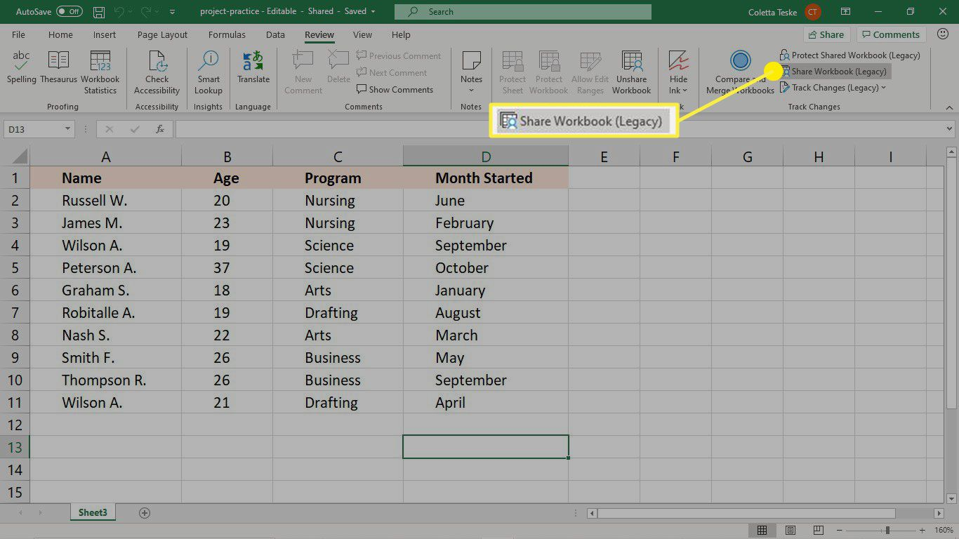 How To Use Track Changes In Excel