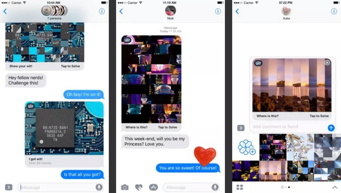 WIT Puzzles app for iMessage