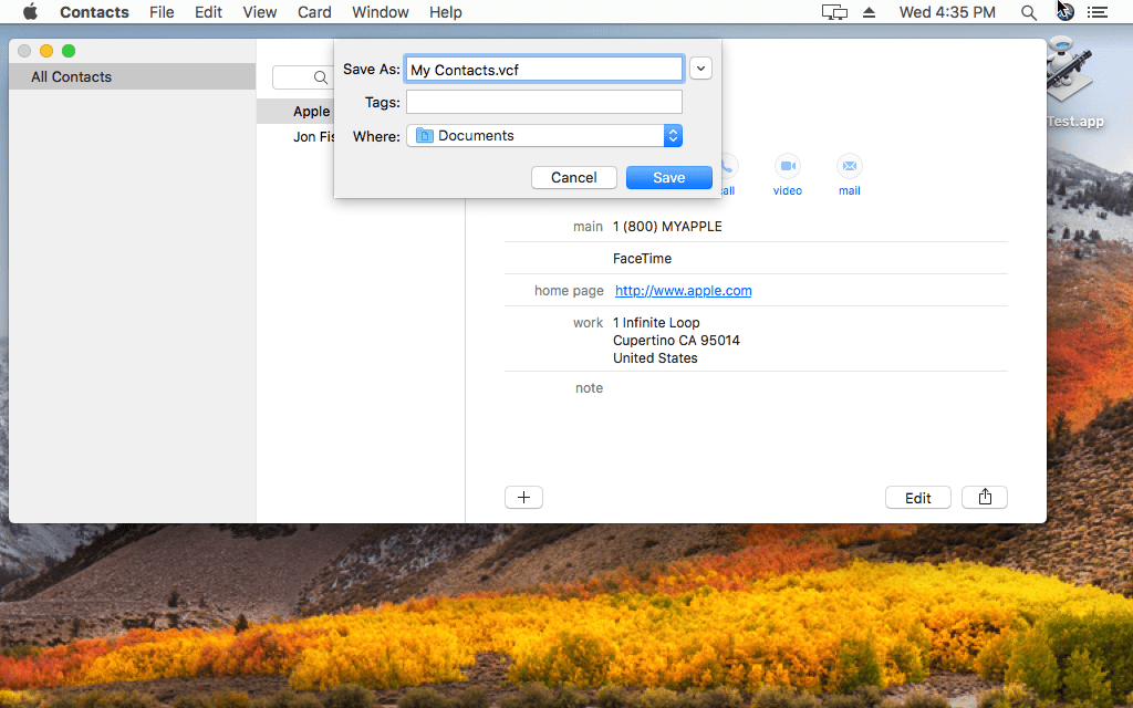Export Mac Mail Address Book Contacts To Csv File