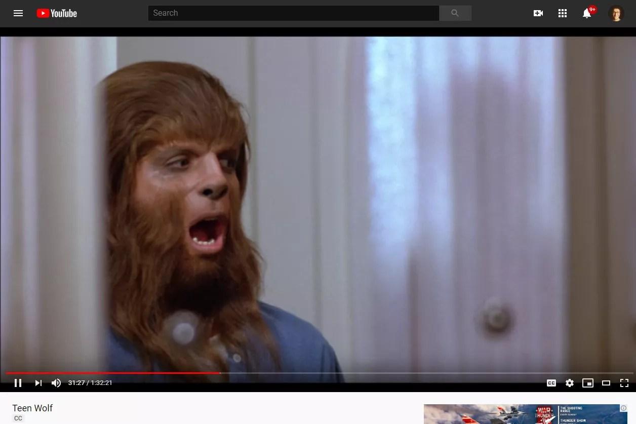 Teen Wolf free movie on YouTube