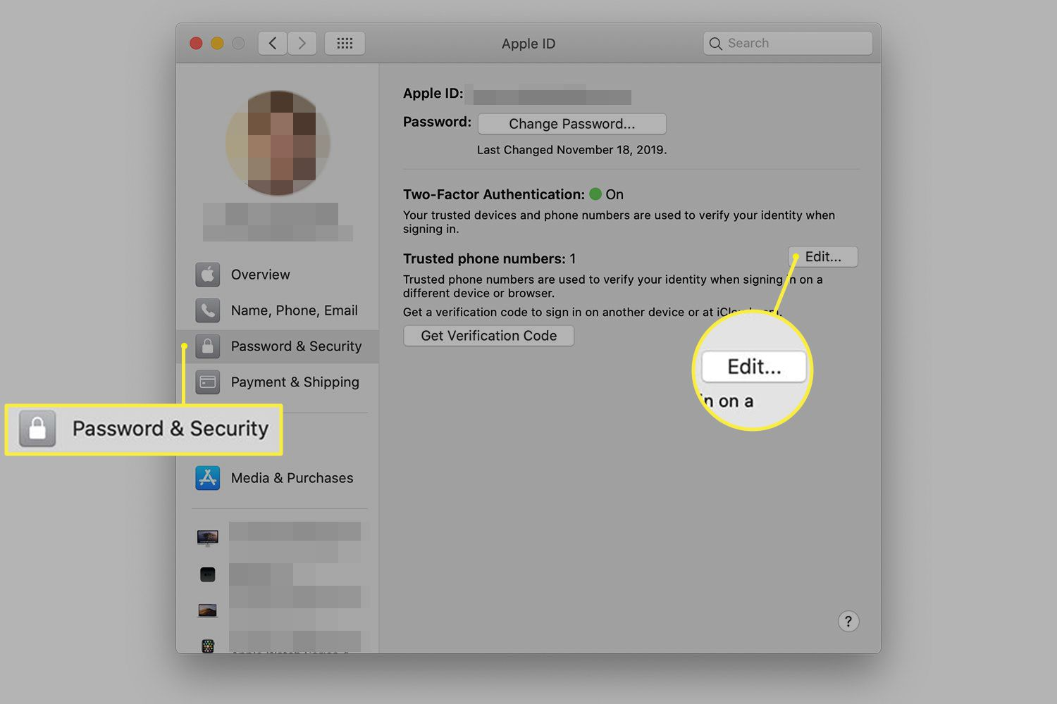 Change iCloud Keychain Security Code and Verification