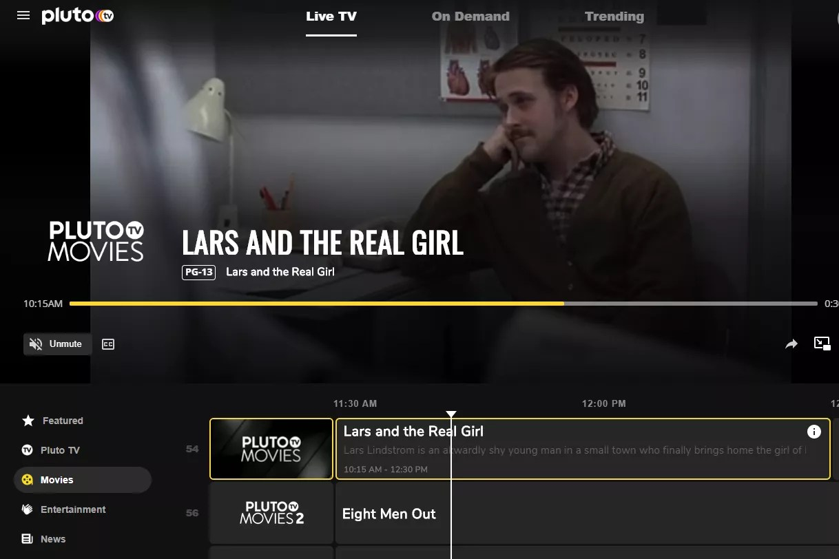 Lars and the Real Girl free stream on Pluto TV