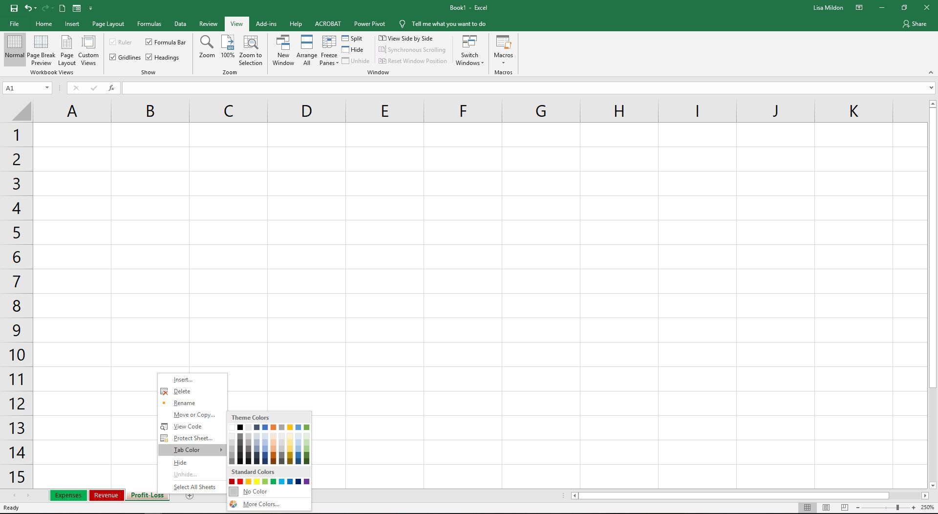 Daily Excel Worksheet