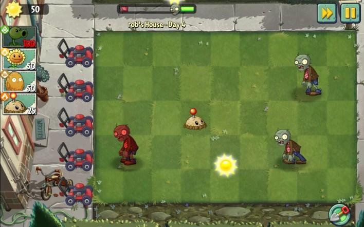 لقطة شاشة من لعبة Plants vs. Zombies 2