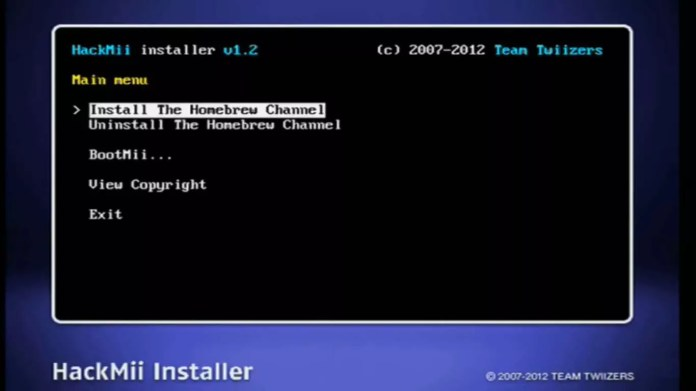 Select Install the Homebrew Channel.