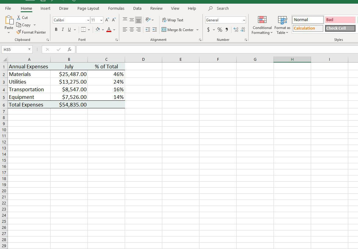 Change Column Colors Show Percent Labels In Excel Column