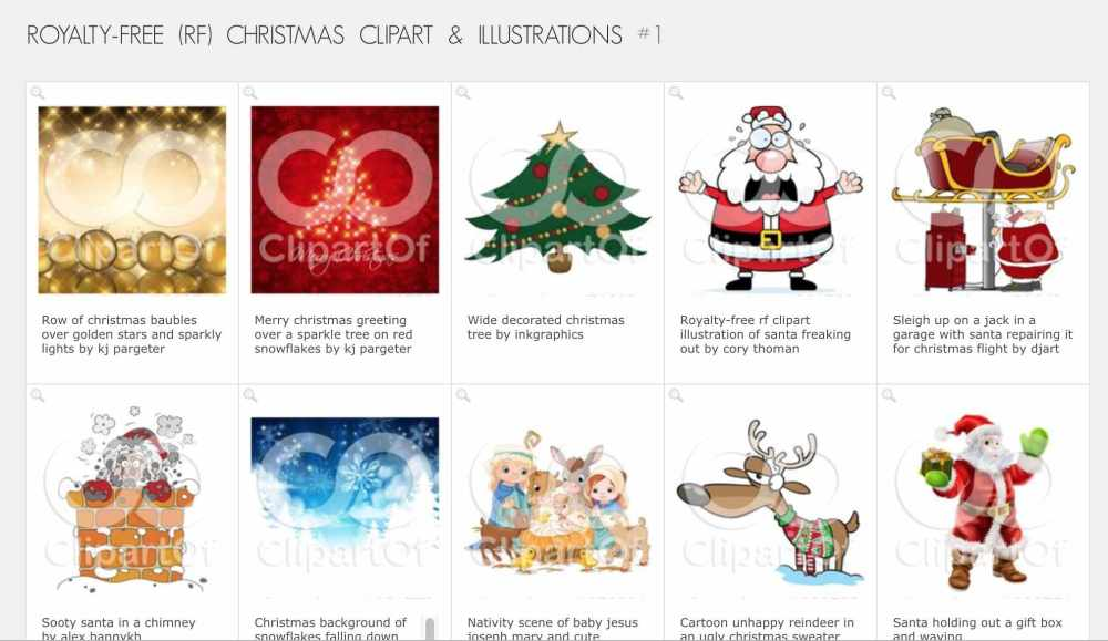 medium resolution of christmas clip art from clipartof