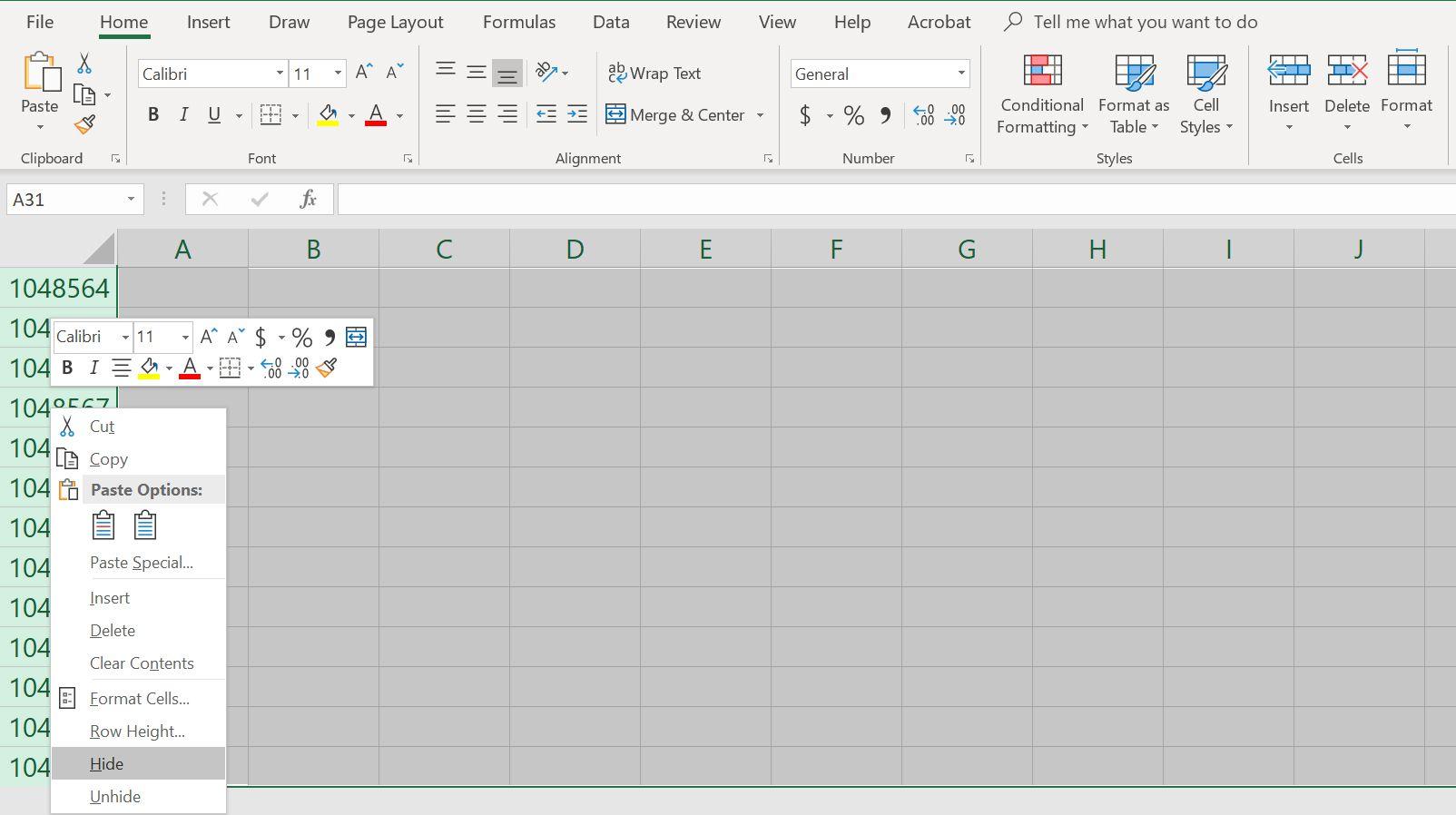 Worksheet Are Hidden In Excel
