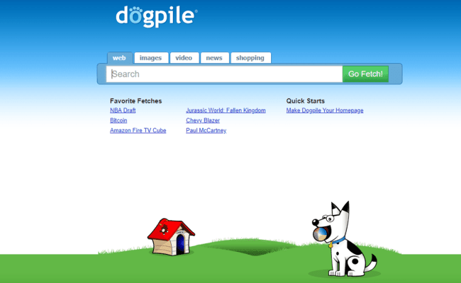 Dogpile Yes This Is A Search Engine