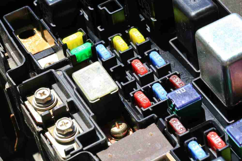 medium resolution of fuses in an automobile s fuse box