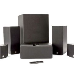 enclave audio cinehome 5 1 wire free home theater system package [ 1110 x 832 Pixel ]