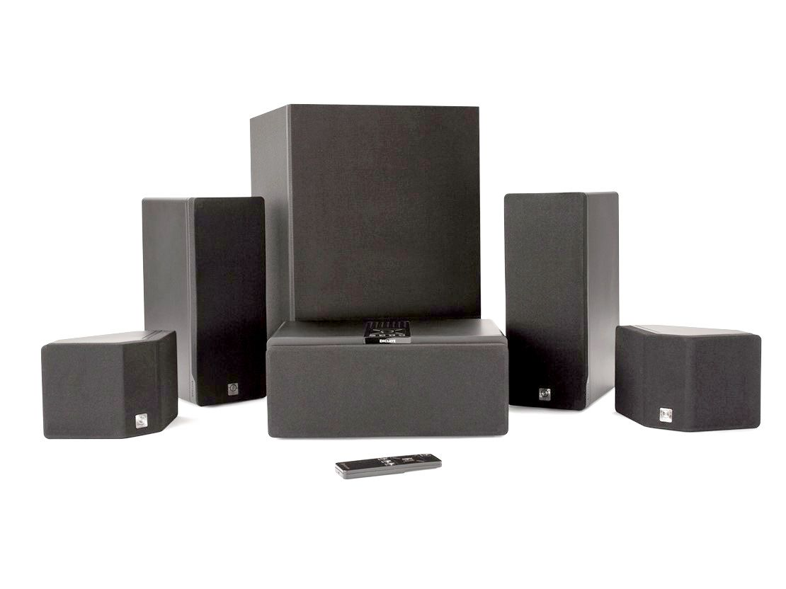 hight resolution of enclave audio cinehome 5 1 wire free home theater system package