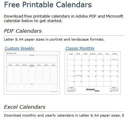 Basic Calendars and Calendar Creation Tools