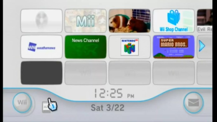 Select your Messages in the bottom-right corner of the Wii home menu.