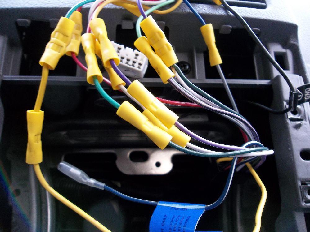 medium resolution of close up of kia radio wiring
