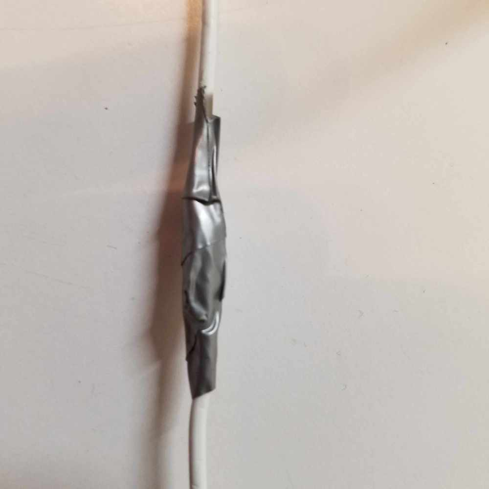 medium resolution of once all of the wires are connected tightly wrap the exposed area in electrical tape