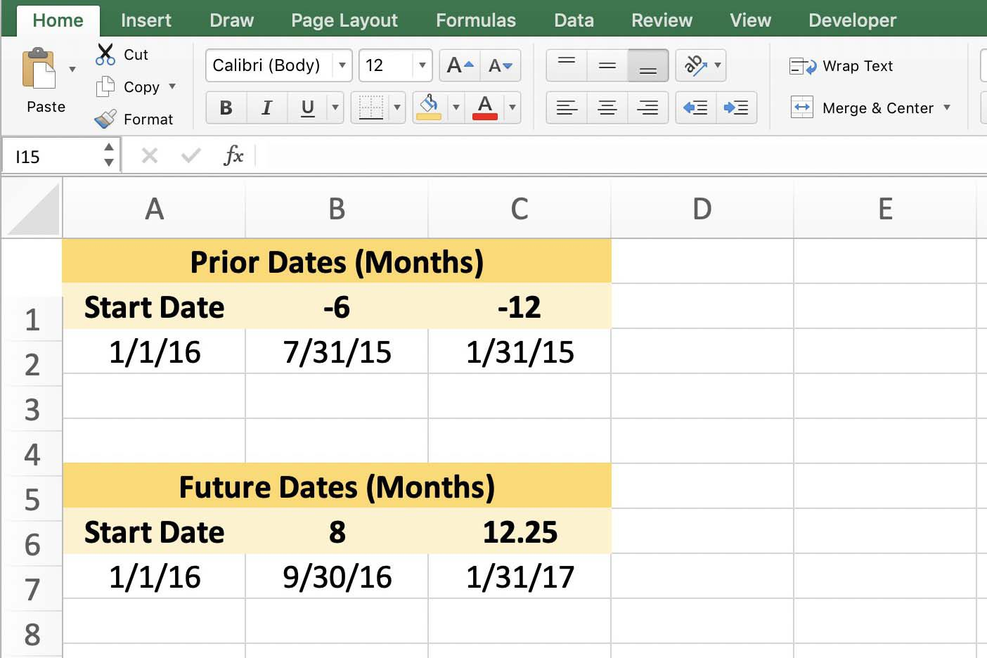 Use Excel S Eomonth Function To Add Subtract Months