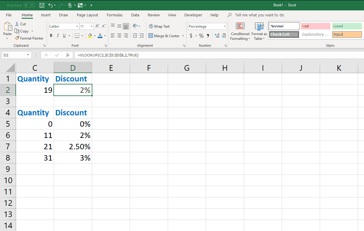 How To Find Data With Vlookup In Excel