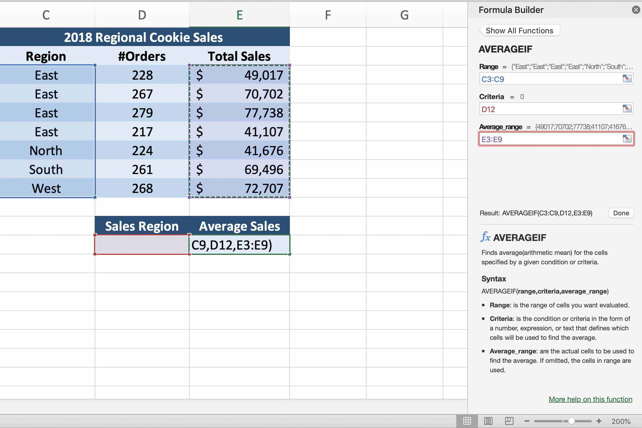 Excel Averageif Find The Average For Specific Criteria