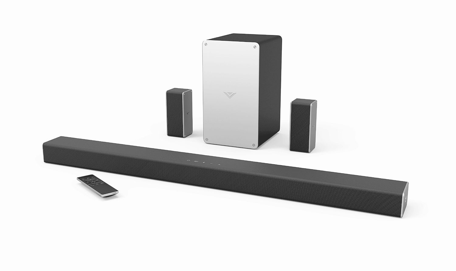 hight resolution of sound bars with surround speakers setup