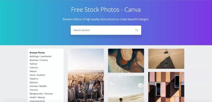 لقطة شاشة لموقع Canva.com.